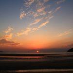 父母ヶ浜海水浴場の夕日
